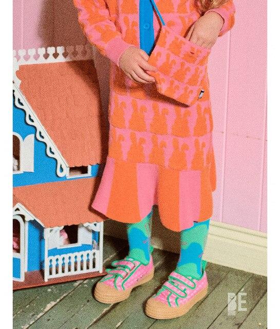New Arrivals Infant Knee High Socks Baby Floor Sock Kids Frilly Socks Korean Japan Style Tube Girls Socks BEBEBE Design Newborn 3