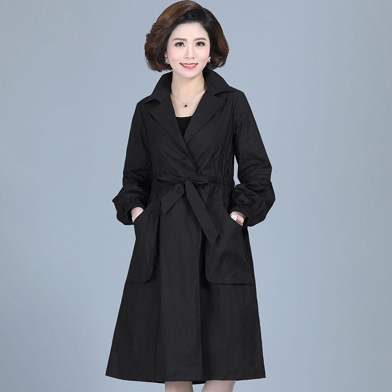 2020 весна осень классический длинный плащ женский Повседневный ветровка Женское пальто черная тонкая верхняя одежда Casaco Feminino пальто