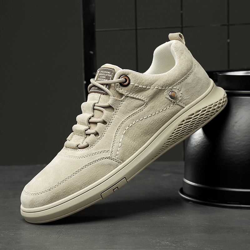 Autumn Leather Casual Men Shoe Luxury Brand Fashion Shoes High Quality Natural Leather Casual Sneakers Flat Youth Casual Shoe