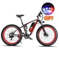 Cyrusher xf800 750w 48v bicicleta elétrica 7 velocidades de suspensão completa quadro eletrônico computador inteligente lcd odômetro