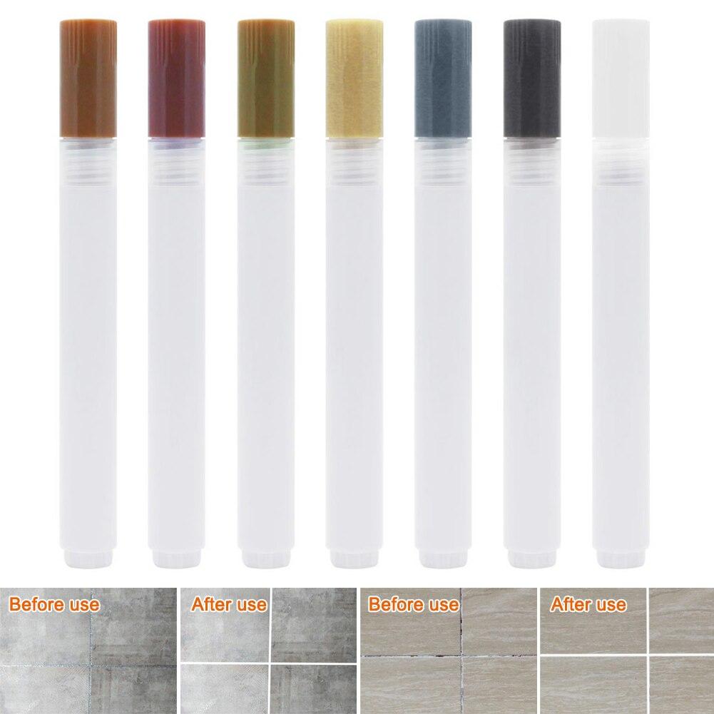 Tile Grout Coating Marker Gaps Tile Floor Tiles Repair Pen Marker Ceramic Floor Repair  WWO66