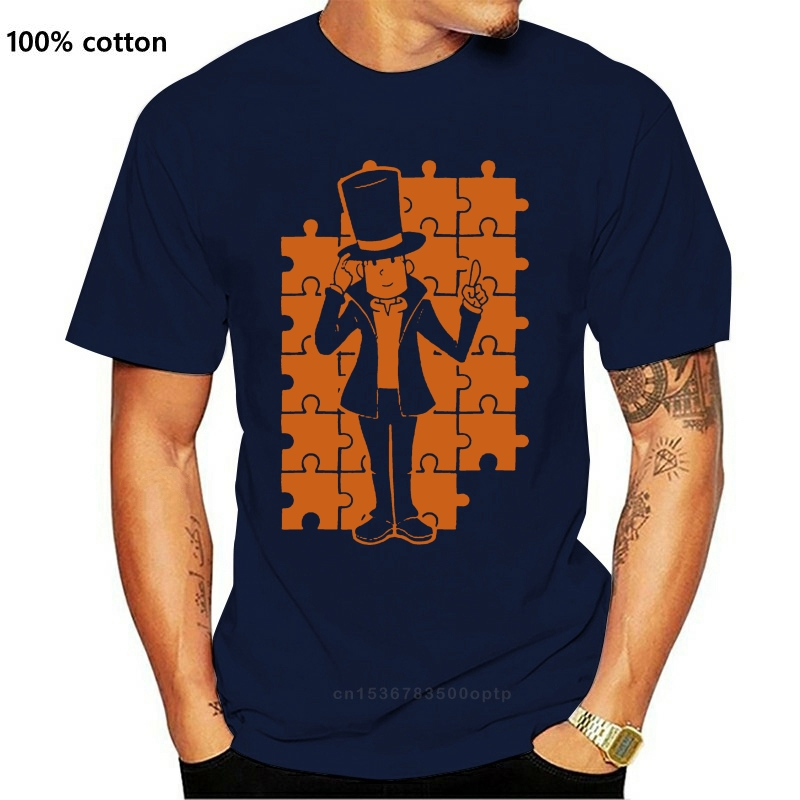 Men tshirt Short sleeve Professor Layton T Shirt O neck Women t-shirt