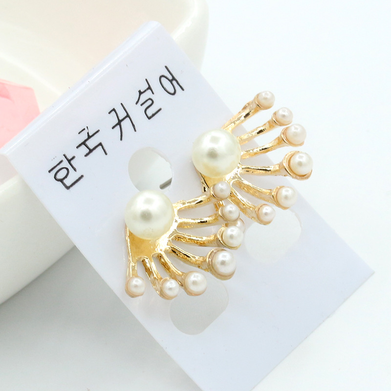 he fashion exquisite small pearl rear hanging cute playful ear nails pearl earrings earrings wholesale new products hot sale