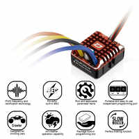 Hobbywing QuicRun 1080 impermeable cepillado 80A ESC + tarjeta de programa para orugas niños juguetes cepillado ESC RC coche piezas