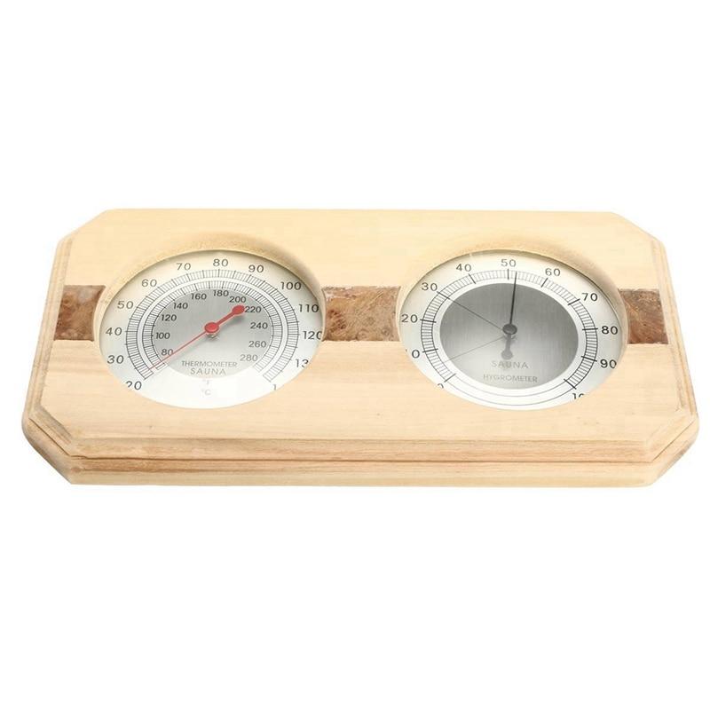 2 In 1 Sauna Room Wood Thermometer Hygrometer Steam Sauna Room Thermometer Instrument Humidity Meter Bath And Sauna Indoor Use