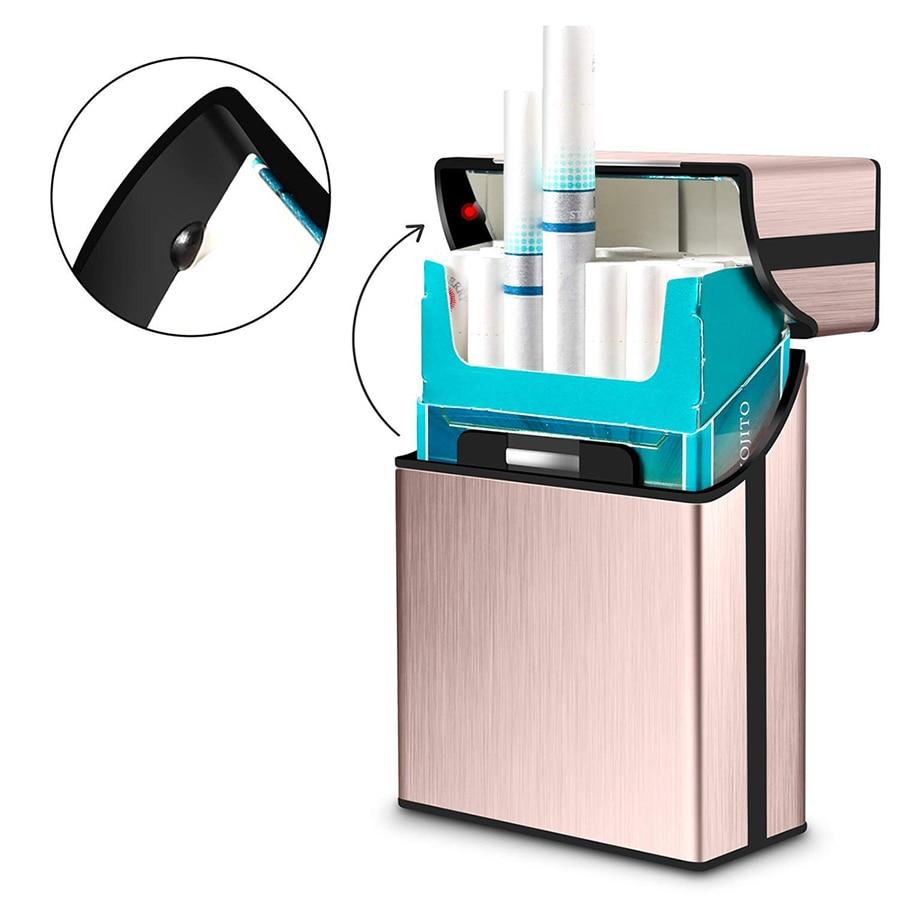 Top Grade Cigarette Case Hold 20pcs Men's and Women's Cigarette Box Business Cigar Case Gadget For Smoker Cigarette Accessories