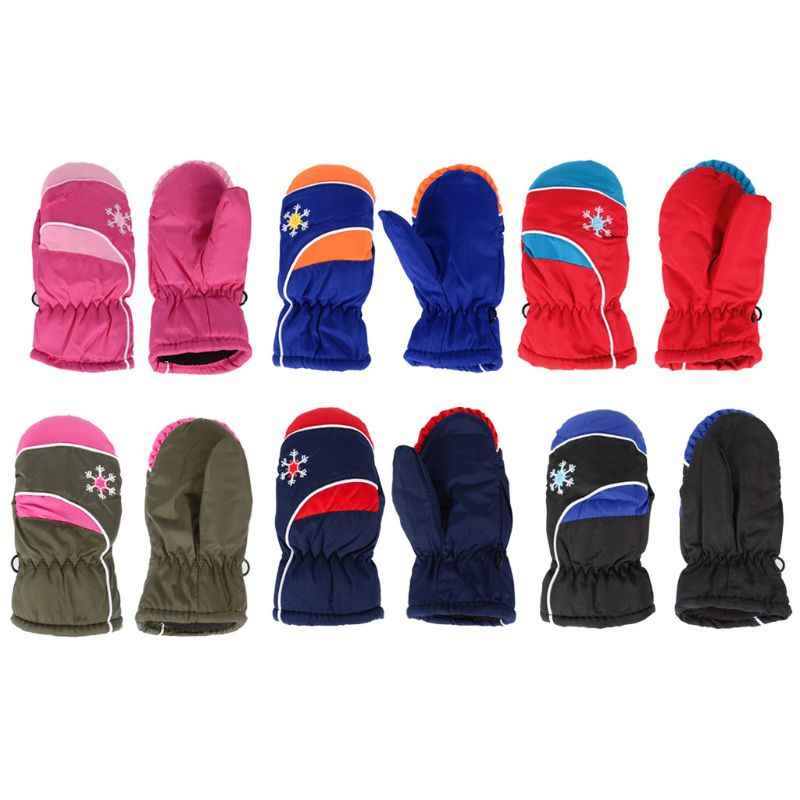 Kids Ski Mittens Waterproof & Windproof Snowproof Children Winter Outdoor Warm Gloves 3-7Y