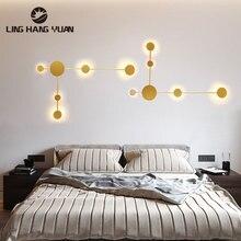 Black&Gold Sonces Wall Light For Home DIY Modern Led Wall Lamp Metal Light Wall Living room Bedside lights Bedroom Dining room