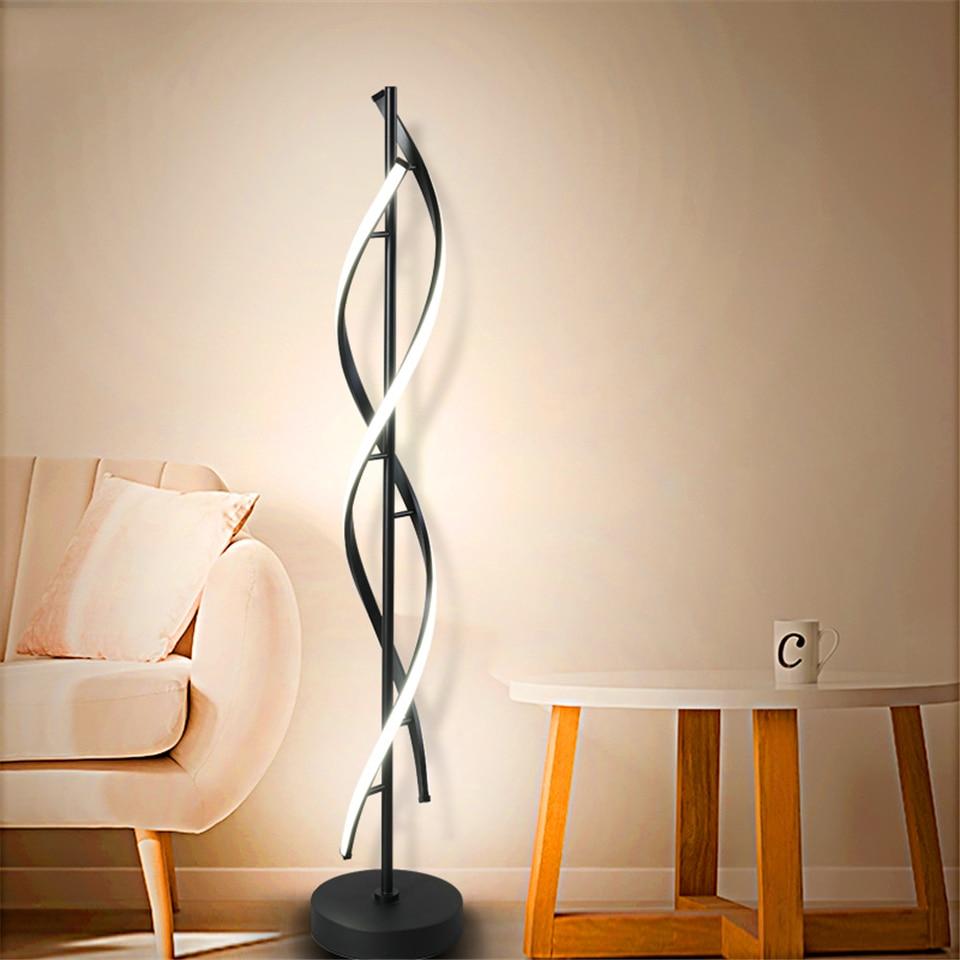 Moderne LED lampadaire en spirale chambre salon décoration intérieure gradation éclairage lampadaires hôtel bureau Hall lampe de bureau