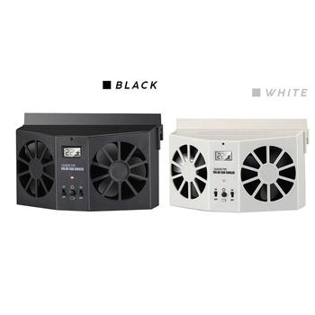 Wentylacja wspomagana chłodzenie wewnątrz samochodu chłodzenie wentylator samochodowy samochód słoneczny samochód cyrkulator wentylator wyciągowy szybki wentylator wyciągowy samochodu tanie i dobre opinie CN (pochodzenie) other 0 64kg black white plastic + solar panel