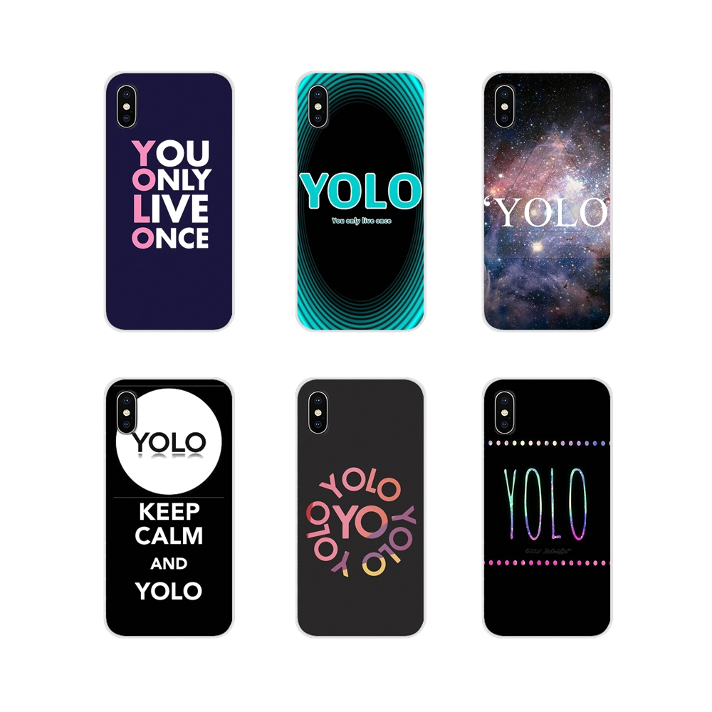Transparent TPU <font><b>Case</b></font> quotes you only <font><b>live</b></font> once YOLO For <font><b>Samsung</b></font> Galaxy S3 S4 <font><b>S5</b></font> Mini S6 S7 Edge S8 S9 S10 Lite Plus Note 4 5 8 9 image