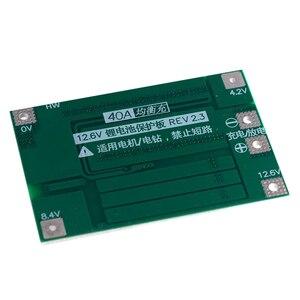 Image 4 - 3S 40A Bms 11.1V 12.6V 18650 płyta zabezpieczająca baterię litową ze zrównoważoną wersją do wiercenia 40A prądu