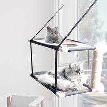 Cat Hammock Small Pet Balcony Puppy Sunny Seat Pet Waterproof Fabric Cat Bed Cat Climbing Sleeping Mattress Single Double Layer