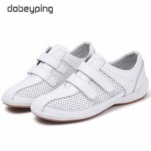 Image 5 - Sonbahar Kadın Ayakkabı Cut Out Kadın Loaferlar Hakiki Deri kadın ayakkabısı Düşük Topuklu Womenn Beyaz Flats Bayanlar Oxfords Boyutu 36  42