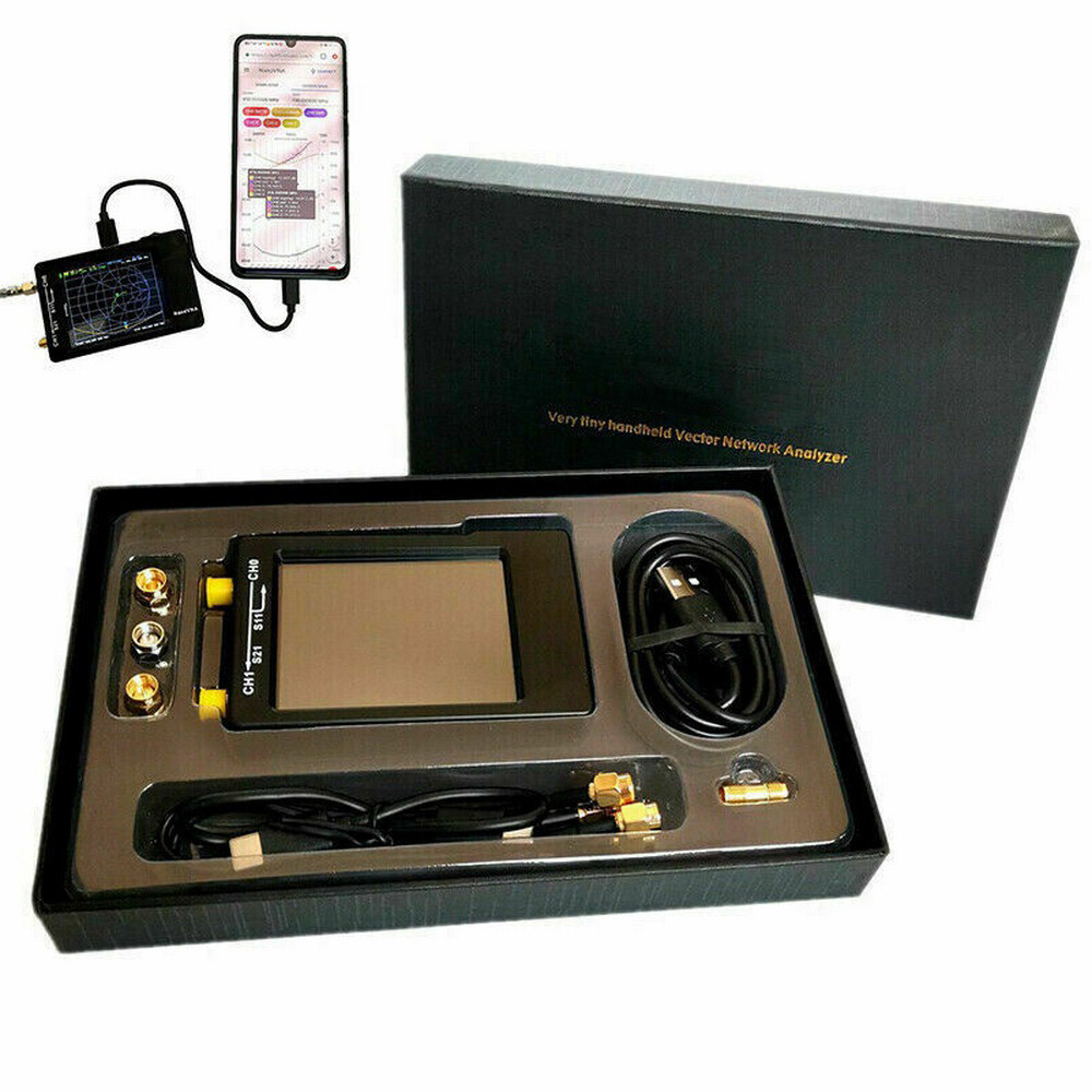 Nanovna-h 50KHz ~ 1.5GHz VNA 70DB 2.8 Cal LCD HF VHF UHF UV wektor analizator sieci analizator antenowy analizator antenowy baterii