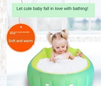 New Baby Inflatable Bathtub PVC Comfortable Baby Bathtub Baby Bathtub Baby Baby Bathtub Baby Tub Bath Kids Bath Tub munchkin white hot inflatable safety bath tub duck 1 count kids mini playground