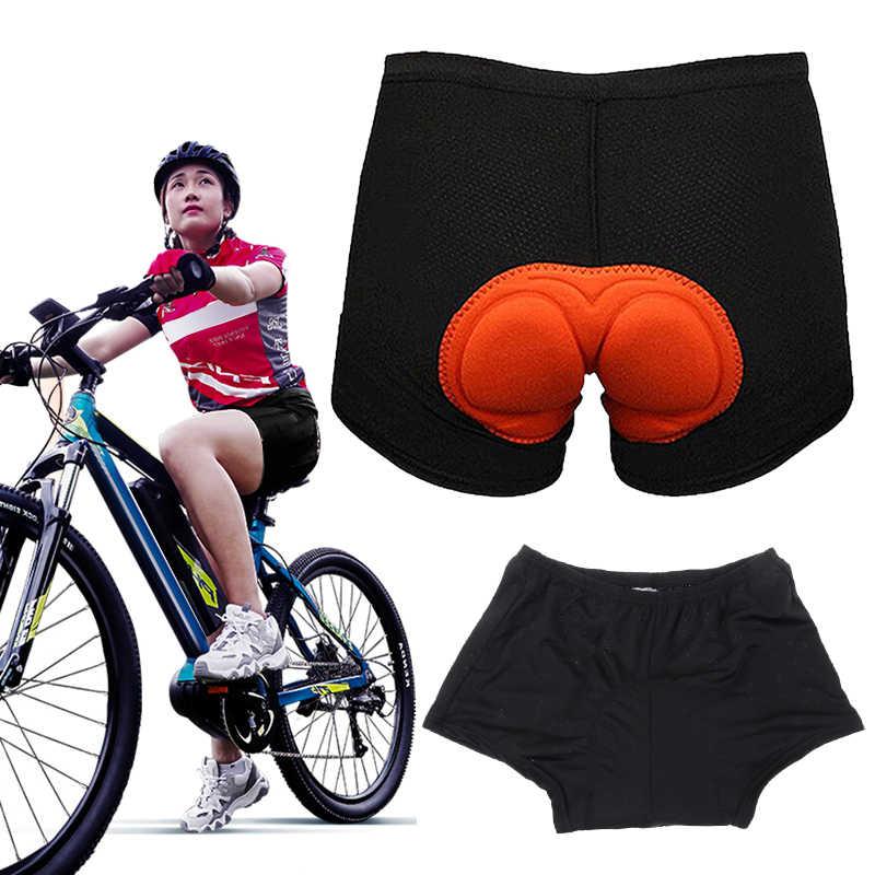 Gel 3D Padded Men Women Cycling Underwear Bicycle Riding Shorts Black Pants UK~