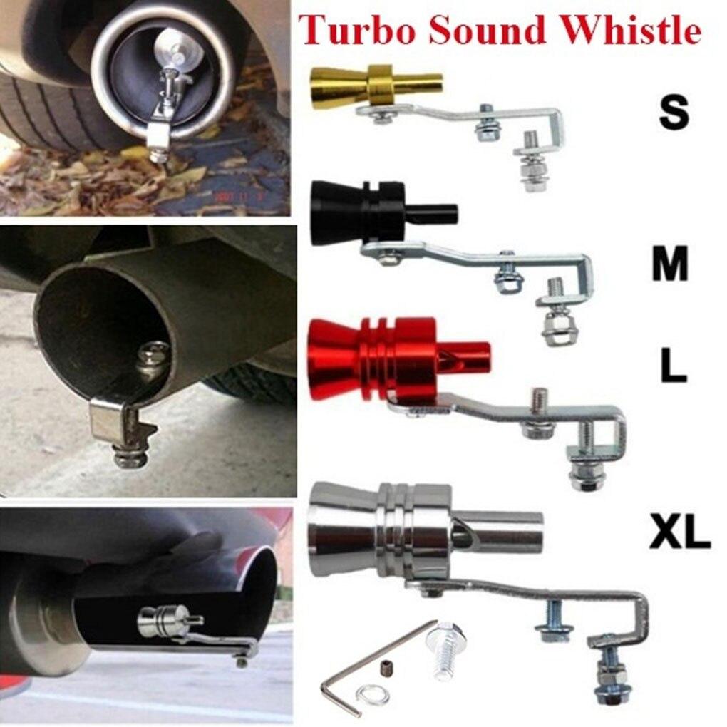 Silencieux anti-retour voiture | Simulateur universel, faux Turbo siffleur, pot à sifflet, style de voiture Tunning S/M/L/XL