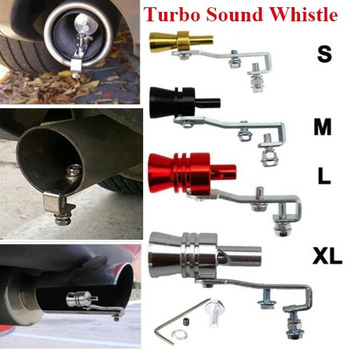 цена на Universal Simulator Whistler Exhaust Fake Turbo Whistle Pipe Sound Muffler Blow Off Car Styling Tunning S/M/L/XL