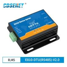 إيثرنت RJ45 إلى RS485 المنفذ التسلسلي خادم جهاز الإرسال والاستقبال اللاسلكي مودم E810 DTU (RS485) V2.0 TCP UDP 100M وحدة مزدوجة كاملة