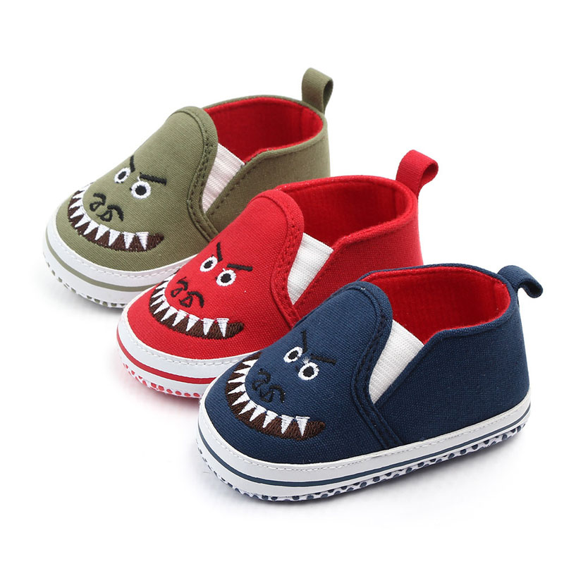 Baby Boys Girls Shoes Casual Cartoon Shoes Cartoon Shark Sneakers Toddler Soft Soled First Walkers
