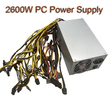 2600W PC Power Supply For Bitcoin Miner ATX Power Supply 12V 20+4P 180-264V Graphics Interface For BTC Bitcoin Mining Server 1