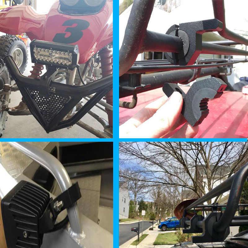 Soporte de faro de motocicleta Soporte de abrazadera de faro de montaje lateral Moto Soporte de luz de montaje Soporte de l/ámpara de cabeza ajustable Abrazadera Tubo de horquilla39-41mm con arandelas