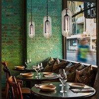 Nordic LED Glass Pendant Lamps American Loft Industrial Kitchen Dining Bar Pendant Lights Living Room Study Lighting Fixtures