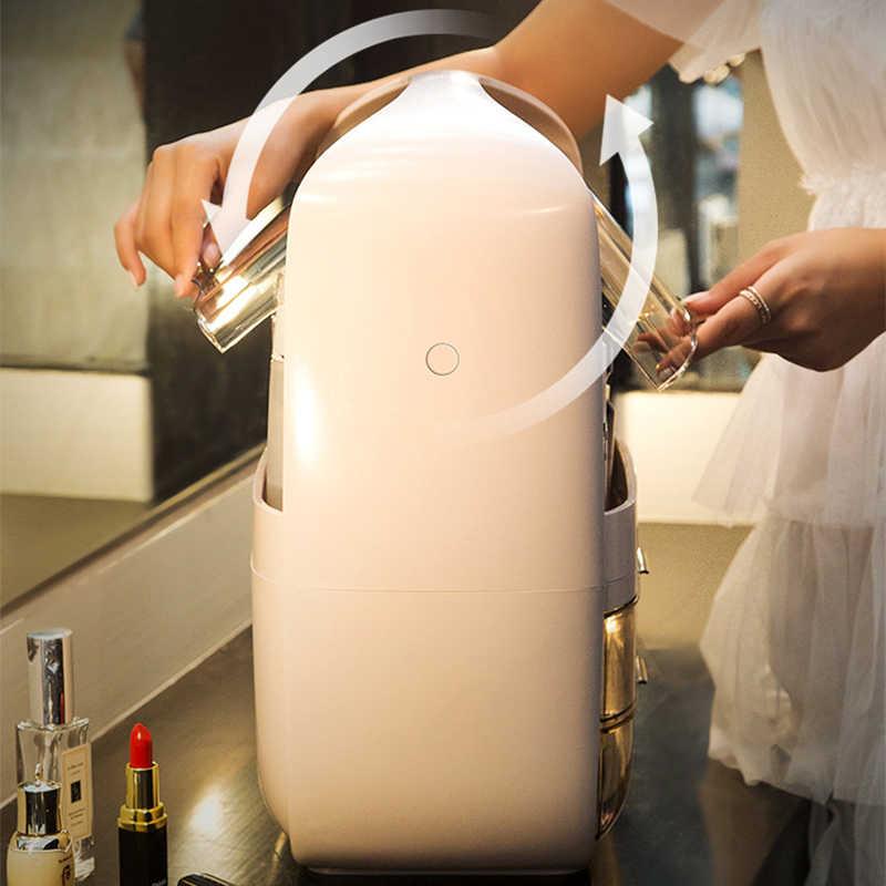 LHLYSGS ファッションアクリル化粧品袋女性旅行防水美容化粧品ケーストイレタリーキットオーガナイザーメイク収納ボックス