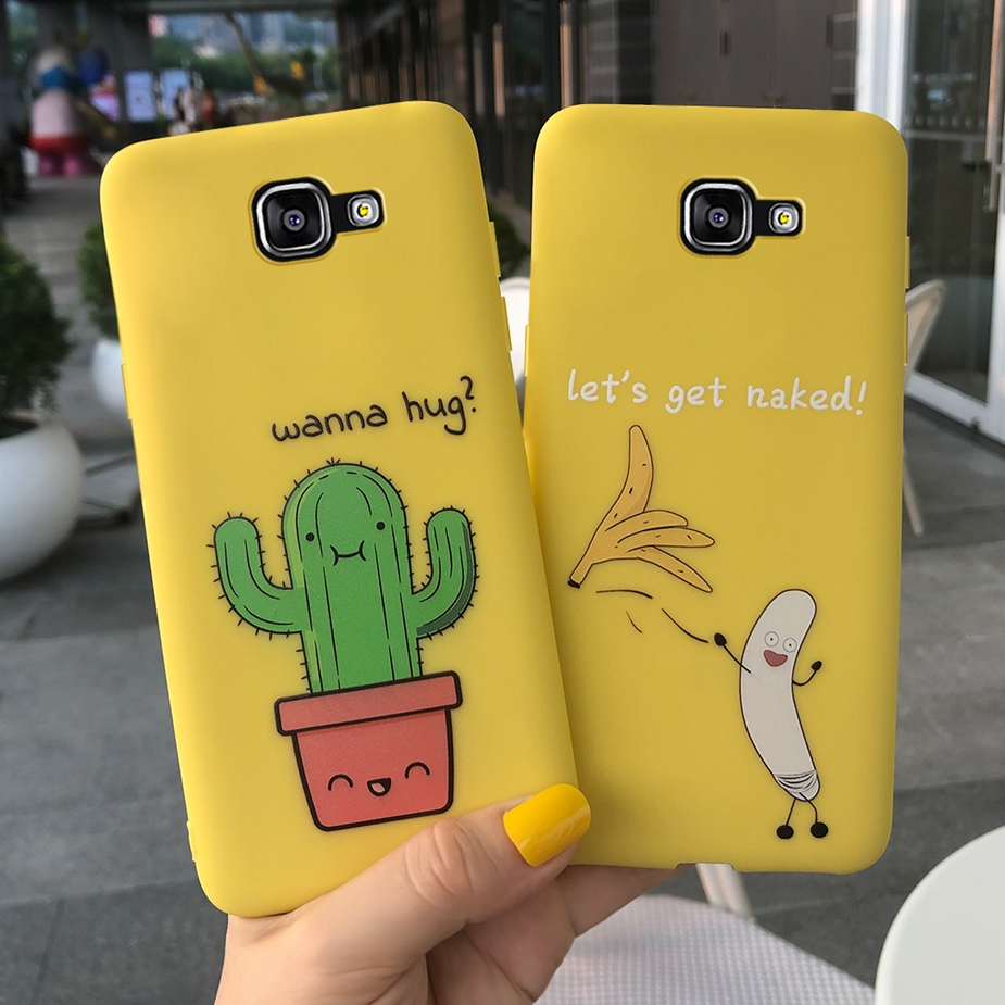 Silicone Case For Samsung Galaxy A5 2016 Case SM-A510F Cute Slim Cover Fundas Phone Case For Samsung A5 A 5 2016 A510 Full Coque