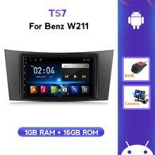 2 الدين مشغل أسطوانات للسيارة أندرويد لاعب لمرسيدس بنز E-class W211 E200 E220 E300 E350 E240 E270 CLS الفئة W219 راديو الوسائط المتعددة