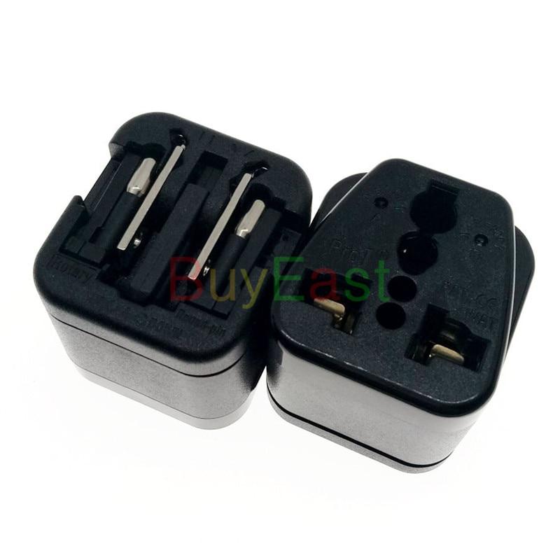 2 х мини-адаптер для путешествий с вилкой для США/Австралии/Китая/Великобритании/ЕС/Японии/Италии... World Plug wonpro напряжение 110-220 черный
