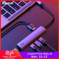 Baseus USB C HUB Typ C zu HDMI RJ45 Ethernet Multi Ports USB 3.0 USB3.0 PD Power Adapter Für MacBook Pro luft Dock USB-C HUB HAB