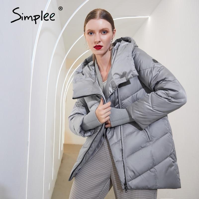 Permalink to Simplee Hooded women winter coat Fashion Cotton warm parkas coat female Elegant causal short puffer jacket coat ladies 2020 New