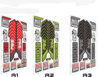 17 Rock Shox-pegatinas de horquilla delantera para bicicleta, calcomanías de vinilo para bici de carretera, MTB, DH, envío gratis