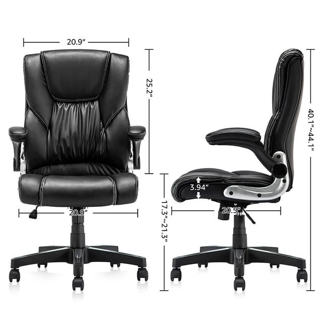 Yamasoro Office Armchairs Executive Computer High Back Adjustable Ergonomic Comfort Desk Chair With Wheel  Flip-up Arm Gas Lift 6