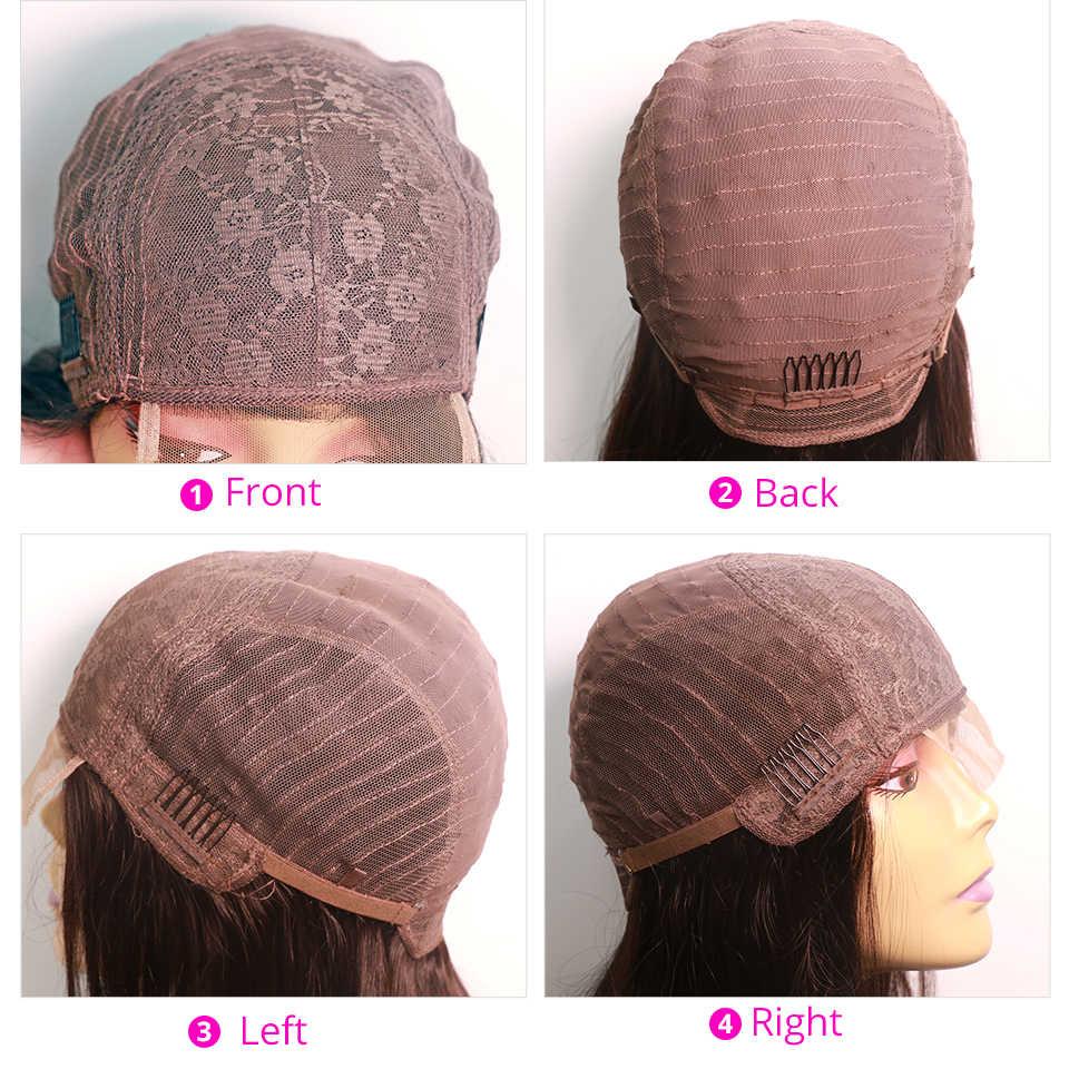 Brasileiro 4*4 fechamento do laço peruca reta perucas de cabelo humano para preto feminino não remy jazz star 150% densidade peruca do laço com cabelo do bebê