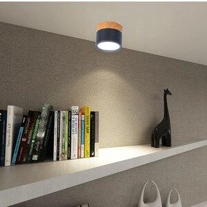 Image 5 - [DBF] Makronen Eisen + Holz Oberfläche Montiert Decke Downlight 5W 12W LED Decke Spot Licht AC110/220V für Küche wohnzimmer Decor