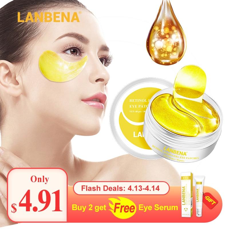 LANBENA Eye Mask Collagen Eye Patch Skin Care Hyaluronic Acid Gel Moisturizing Retinol Anti Aging Remove Dark Circles Eye Bag
