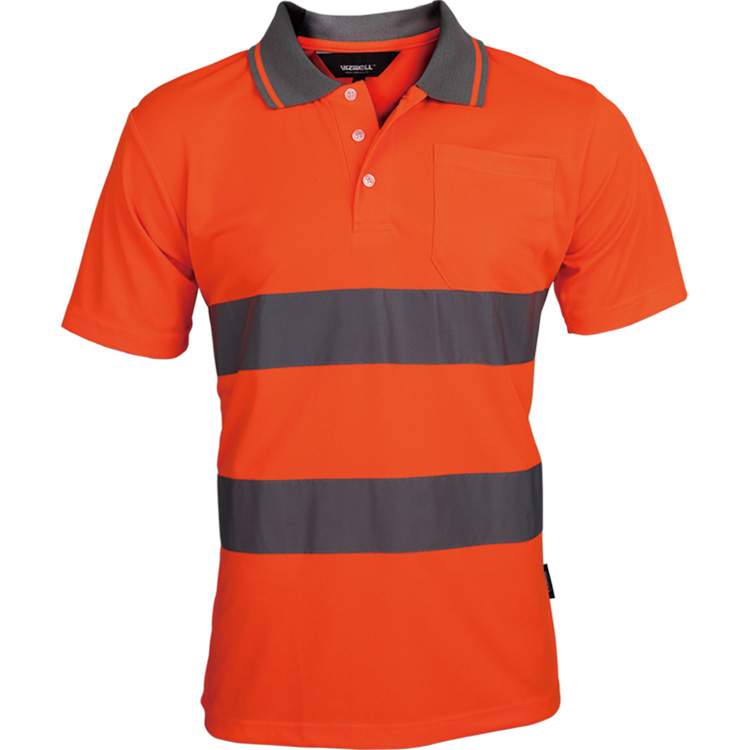 Image 5 - Two Tone Safety Polo Shirt Orange High Visibility Reflective Shirt With Pockets-in Safety Clothing from Security & Protection