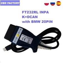 FTDI FT232RL для BMW INPA K + DCAN FT232RL чип K + CAN INPA K CAN диагностический кабель INPA DIS SSS NCS кодирование для автомобилей серии BMW