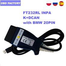 Ftdi ft232rl para bmw inpa k + dcan ft232rl chip k + pode inpa k pode diagnóstico cabo inpa dis sss ncs codificação para carros da série bmw