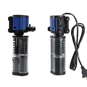 Image 2 - Filtro de aquário 220v sunsun, filtro de aquário interno 3 em 1, esponja submersível silencioso, bomba para tanque de peixes, fabricante de oxigênio bomba de água