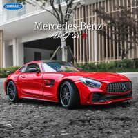 Welly 1:24 Mercedes-Benz AMG GTR coche de aleación modelo simulación coche decoración colección regalo juguete de fundición a presión modelo niño juguete