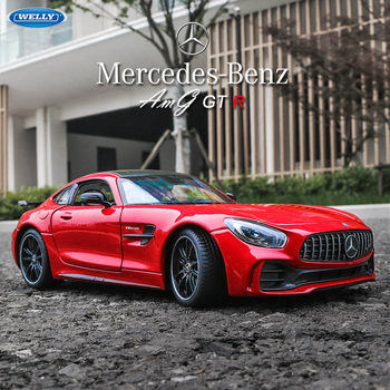 welly 1:24 Mercedes-Benz AMG GTR  car alloy car model simulation car decoration collection gift toy Die casting model boy toy welly 1 24 mercedes amg gtr green car alloy car model simulation car decoration collection gift toy die casting model boy toy