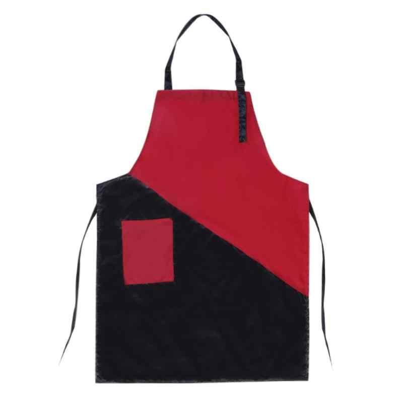 Negro + rojo profesional resistente al agua corte de pelo peluquería delantal para Barbero herramienta de peluquería accesorio para ropa