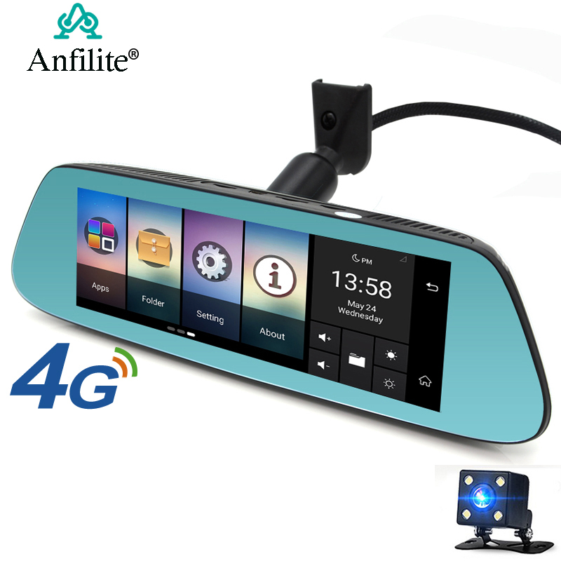 Anfilite 7 Inch Car Rearview Mirror DVR 4G ADAS Android GPS Navigation FHD 1080P Dash