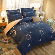 4Pcs Merry Christmas printed Bedding Set Quilt cove +Flat Sheet +2 Pillowcase(China)