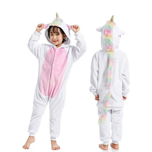 Costume Pajama Unicorn Sleep-Suit Onesie Boy Cosplay Kigurumi Girl Children Flannel