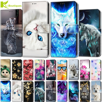 Patterned case for Alcatel 3X 2019 5048U 5048Y case for alcatel3X 3 X 2019 5048 phone cover flip leather protect coque fundas image
